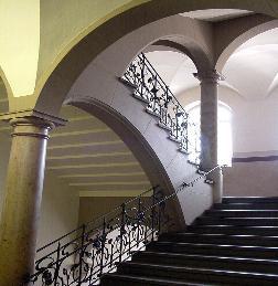 Foto: Das Treppenhaus mit seinem Jugendstil-Geländer