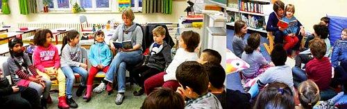 Leserunde in der Knauerschule - Bild zum Artikel Aktivitäten 2015/16 und 2016/17